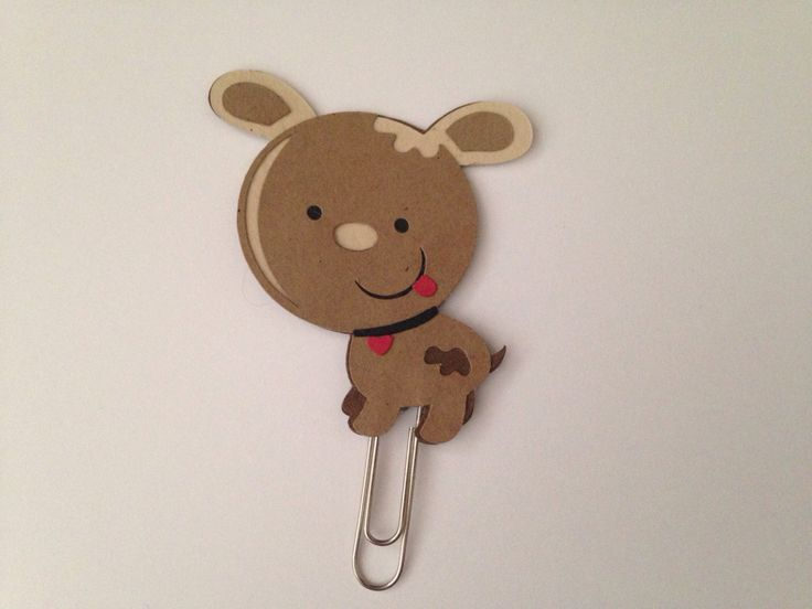 Puppy Planner Clip by CleverDesignCharms on Etsy