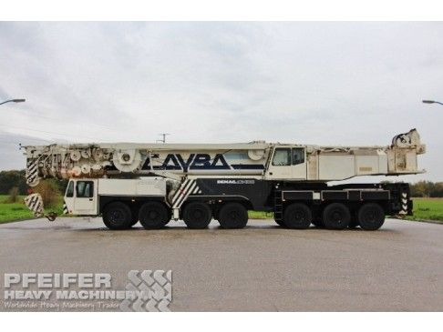 Telescopic Crane DEMAG - AC400 Pfeifer Heavy Machinery  Equipped with:   * Double winch. * Super Lift. * Counterw. 122t. (Compleet) * Hydr. ballast cylinders.  * Central lubrication.  * Supperst Engine: OM 366 LA (171kW / 233PS)   #Telescopic #Crane #DEMAG #AC400 #Heavy #Machinery #Equipment