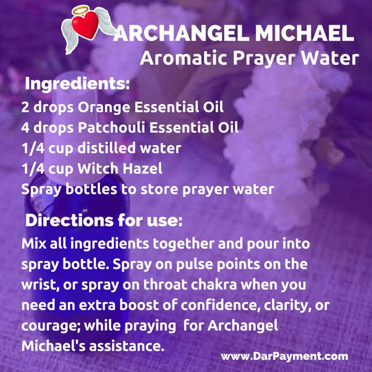 Archangel Michael Aromatic Prayer Water Recipe. From the book The Archangel Apothecary - https://store.bookbaby.com/book/The-Archangel-Apothecary   archangel michael, essential oils, aromatherapy, prayer water, archangel, angel cards