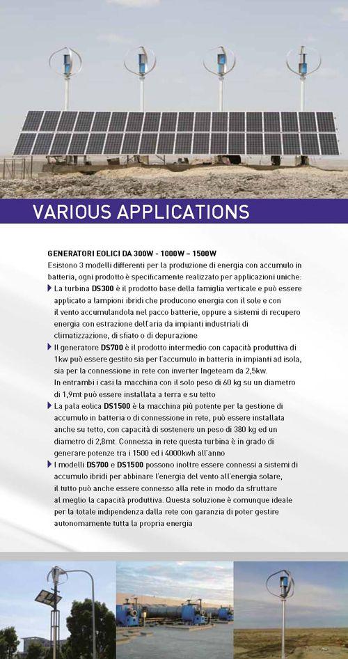 Generatole eolico di taglia media per impianti ibridi di accumulo energia