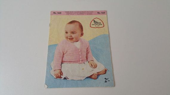 https://www.etsy.com/au/listing/500804889/patons-knitting-book-568-babies-wear  #patons