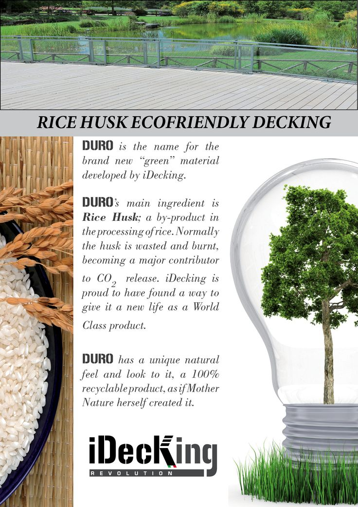 Beautiful Www.idecksystems.com   DURO DECKING BOARDS Made Of Rice Husk. EcoFriendly  And