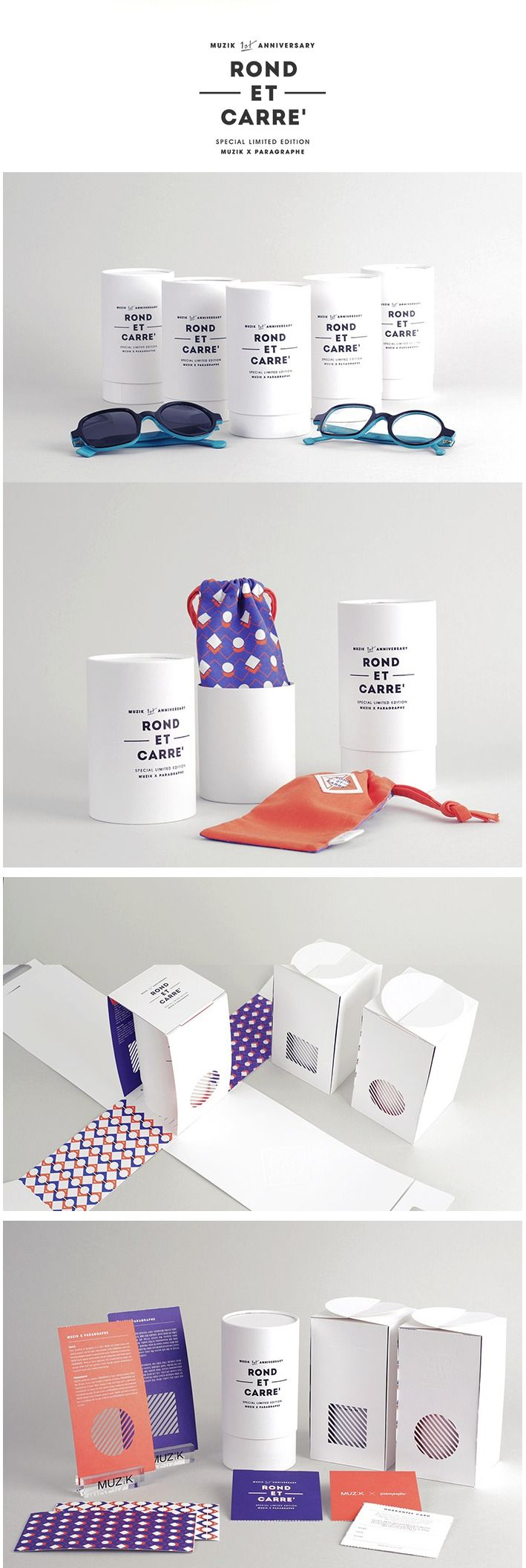 Designed by: MUZIK STUDIO, Korea. #sunglasses #package #whitedesign