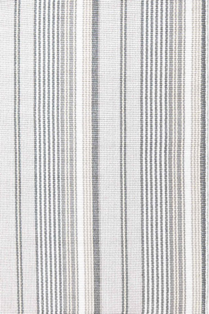 Gradation Ticking Woven Cotton Rug You'll never have a grey day with our latest neutral, featuring a variegated stripe in shades ranging from cream to taupe and gunmetal.Click Here for a DIY tutorial of a stair runner installation.RugStudio #...