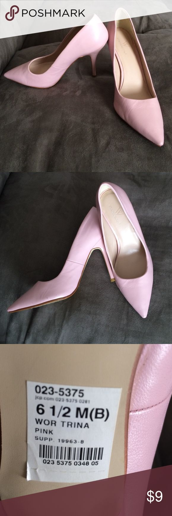 Light pink high heels Light pink heels,size 6.5, Worthington brand, worn only a couple time. Worthington Shoes Heels