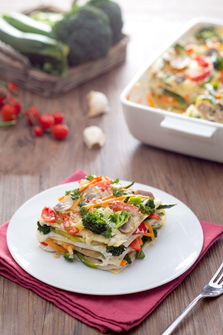 Per noi la domenica significa #lasagne ( #veggie lasagna) Prova la nostra versione coloratissima e #vegetariana! #Giallozafferano #recipe #ricetta #domenica #vegetarian #lasagna