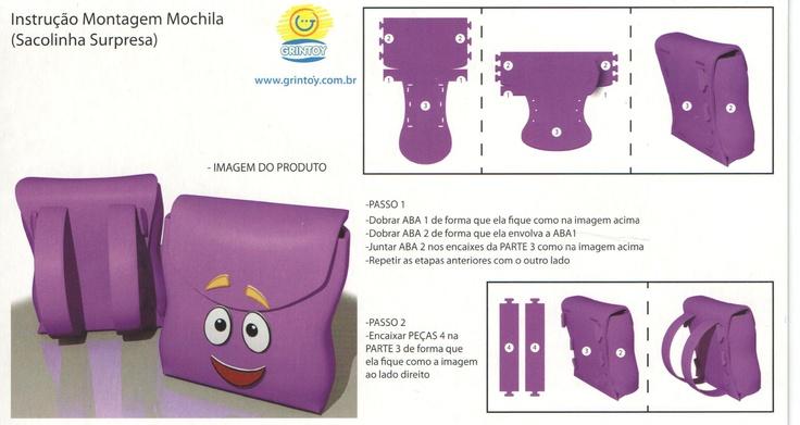 SACOLA SURPRESA - MOCHILA DORA AVENTUREIRA