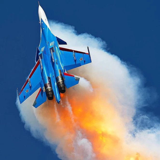 """Russian Air Force """"Russian Knights"""" Sukhoi Su-30SM """"Flanker-H"""""""