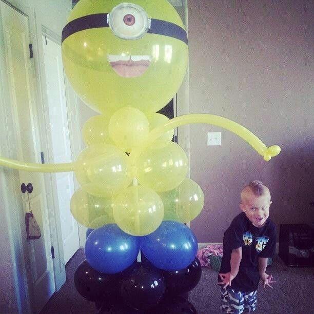 Minion Balloon! Despicable Me themed birthday party! Balloonvilleut.com