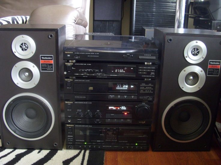 Technics Midi HiFi Stereo Separates Music System with Speakers & Remote Control 2