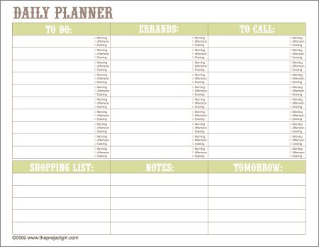 379 best Organization Templates images on Pinterest Calendar - day planner template