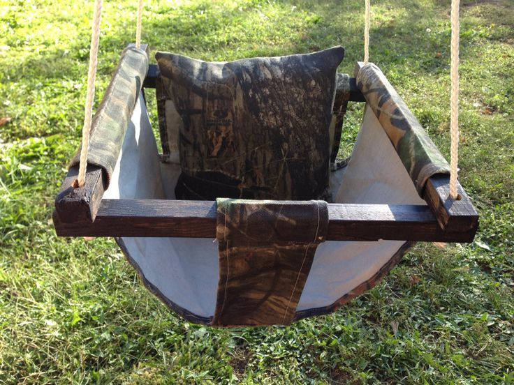 Outdoor Baby Swing with Support Pillow, Fabric Swing, Toddler Swing, Baby Hammock, Cloth Mossy Oak Baby Swing, Baby Swing Camouflage by TheAviaryCreations on Etsy