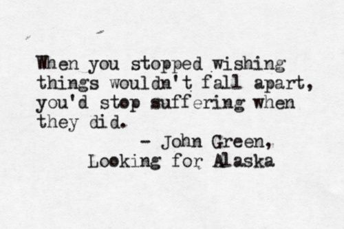 looking for alaska by john green essay In john green's award winning young adult novel, looking for alaska the main character chip the colonel martin meets his new roommate, miles pudge halter the colonel is the best friend of the enticing alaska young, who he knows very well and cares much about.