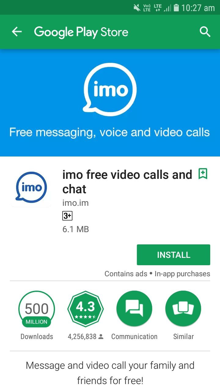 Imo Messaging App Crossed 500 Million Download Mark On Google Play