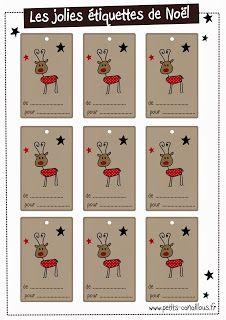 Petits canaillous | Des �tiquettes de No�l | http://www.petits-canaillous.fr