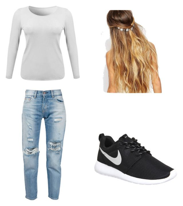 Untitled #17 by malineiksa on Polyvore featuring polyvore, fashion, style, Levi's, NIKE and Johnny Loves Rosie