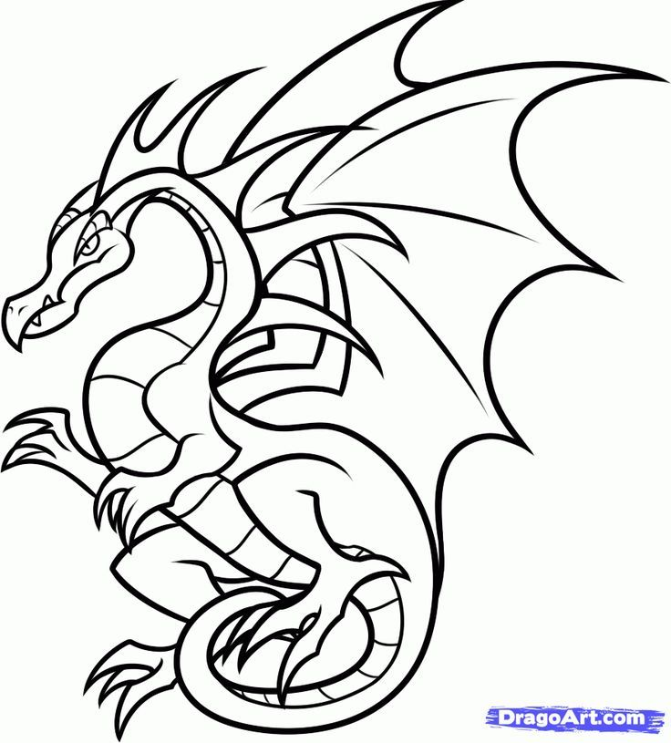 How To Draw A Flying Dragon For Kids by Dawn Dragon