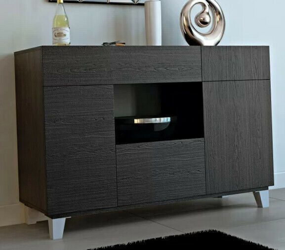 Modern Sideboard Black Dining Buffet Storage Cabinet Console Table