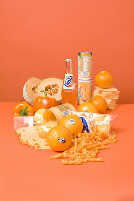 Orange food.    Food photography by Stephanie Gonot.