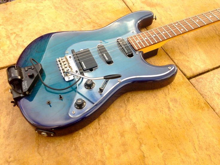 fernandes the function with sustainer rare made in japan trans blue as played by dweezil zappa. Black Bedroom Furniture Sets. Home Design Ideas