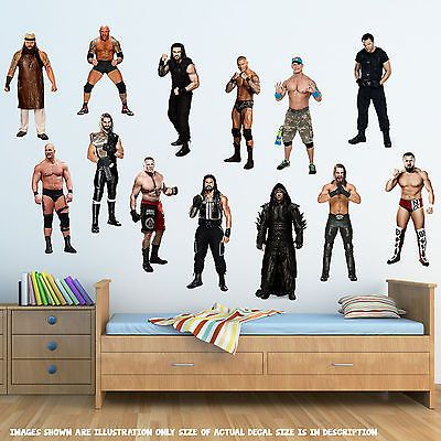 #Wrestlers wwe wrestling vinyl #decal boys kids bedroom wall #window sticker gift,  View more on the LINK: 	http://www.zeppy.io/product/gb/2/391515240246/