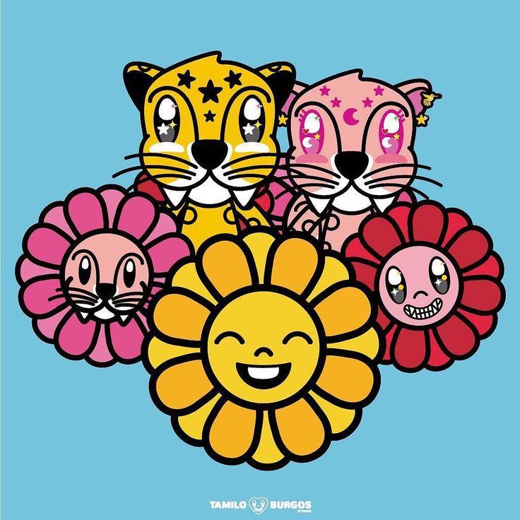 Love & Flowers  --- #TamiloBurgosStudio #flowers #cats #jaguar #couplegoals