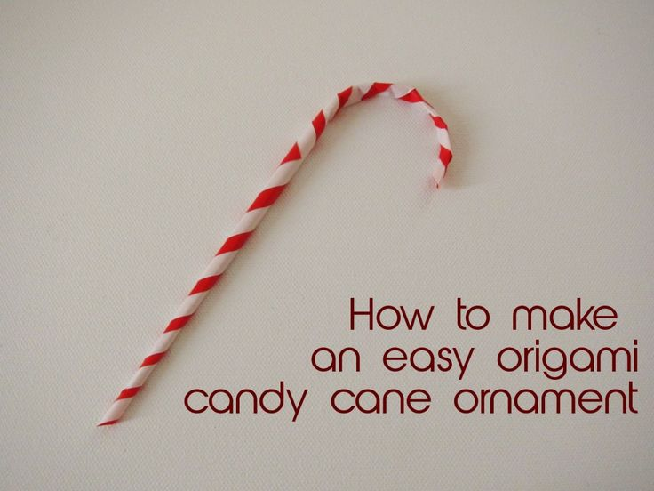Easy Origami Candy Cane Christmas Ornament