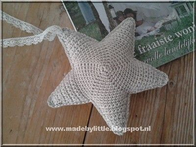 Star free pattern: http://madebylittle.blogspot.nl/2013/08/haakpatroon-ster.html