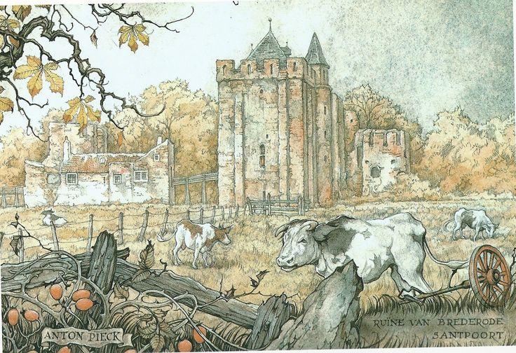 De ruïne van Brederode in Santpoort