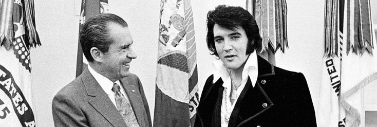 Elvis Meets Nixonis a mockumentary-TV movie about Elvis's expedition to the Whitehouse to become a Federal Marshall for the DEA. I am a HUGE Elvis fan and was jumping up and down with joy when I f...