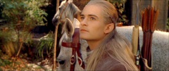 [A man, an Elf and companions, and a party of Dwarves all dismount and stare around in wonder.]