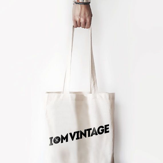 "Canvas Bag, ""I'm Vintage."" Printed Tote Bag, Market Bag, Cotton Tote Bag, Large Canvas Tote, Funny Quote Bag"