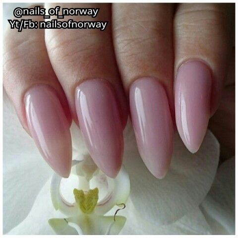 Some pale pink builder gelnails that I made.