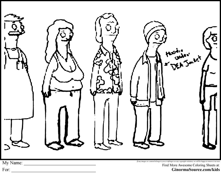 bobs burger coloring pages - photo#16