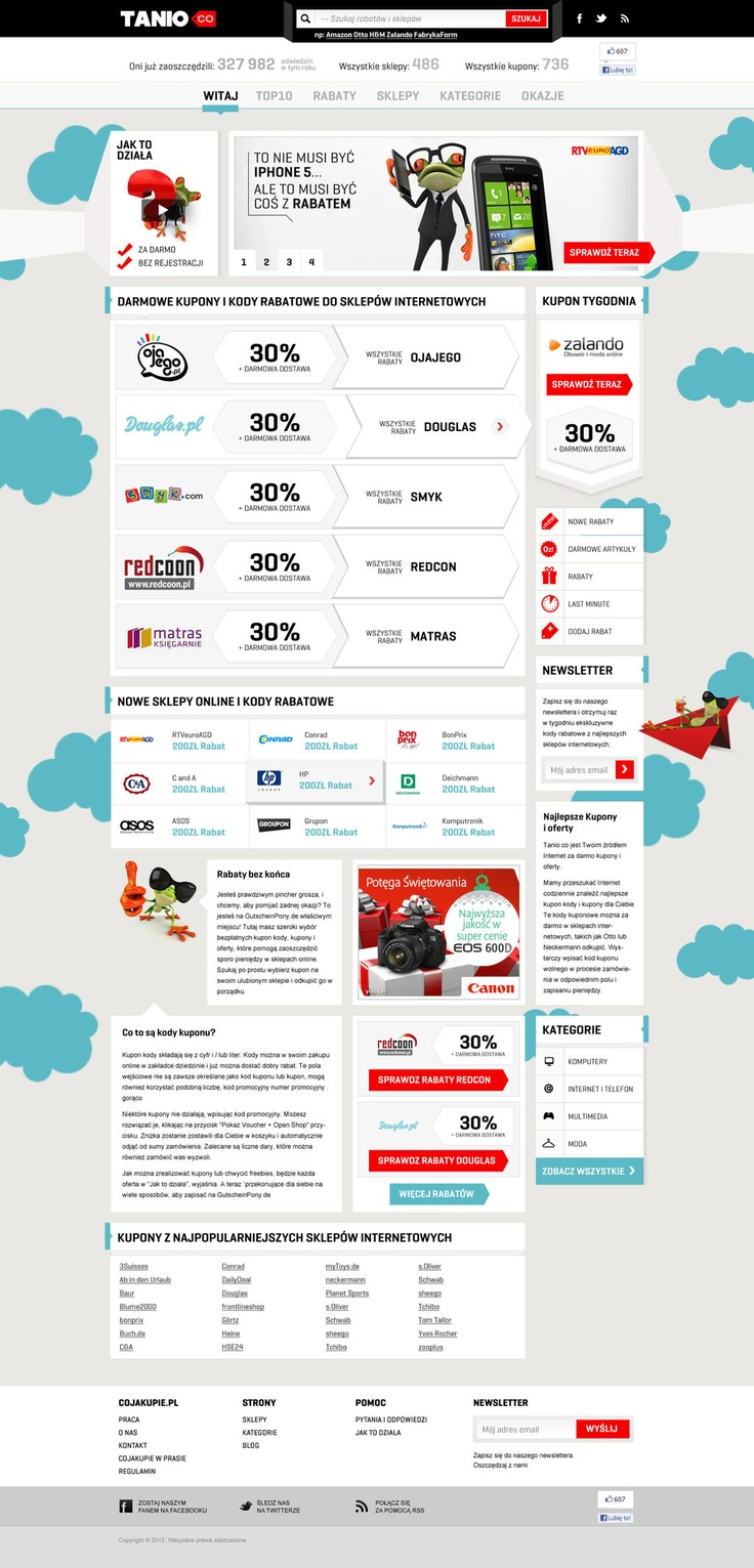 Tanio.co by sl01k.deviantart.com on @deviantART #design #web #webdesign #coupon #coupons #e-commerce #commerce #ecommerce #layout #site #shop #online #www #store