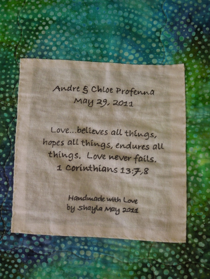 27 best Quilt labels images on Pinterest   Births, Charts and Comics : quilted by labels - Adamdwight.com