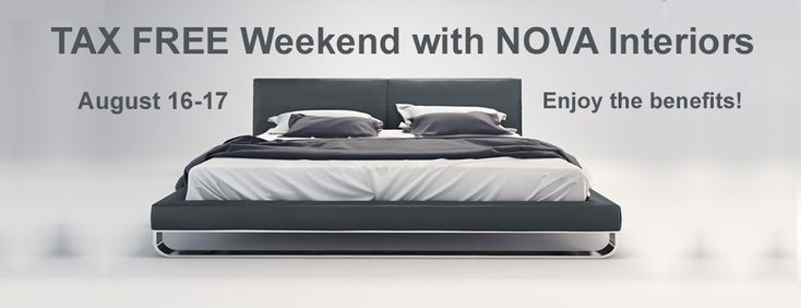 NOVA Interiors Contemporary Furniture store in Boston Tax Free Weekend Sale