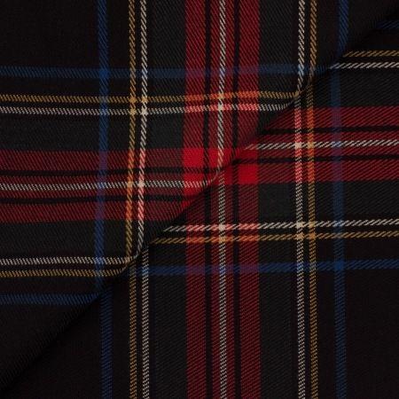 Tissu prince de galle marine - matiere Prince de galles motif Carreaux : Tissus Habillement, Déco par place-des-tissus