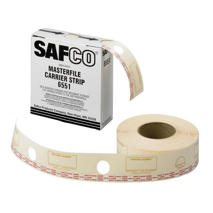 Safco 6551 Film Laminate Carrier Strips for MasterFile 2