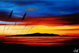 sunset in nz