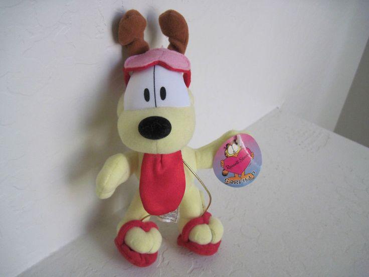 "8"" Garfield Friend ODIE DOG VALENTINE LOVE Plush Stuffed Animal"