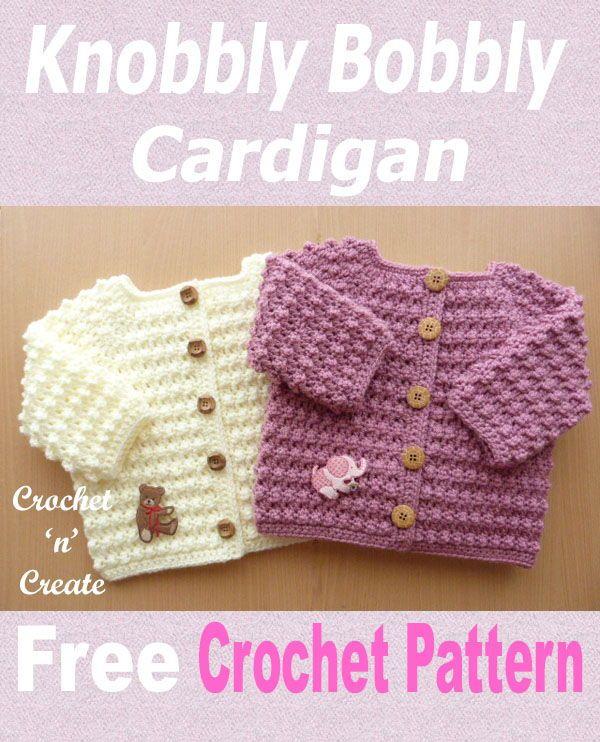 0e15b0b97 Knobbly baby cardi Free Crochet Pattern