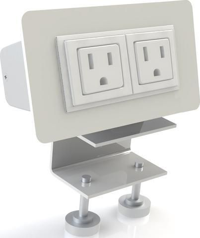Scale 1:1 Eyhov Rail Desktop Mounted Power Unit for Rail Workstations