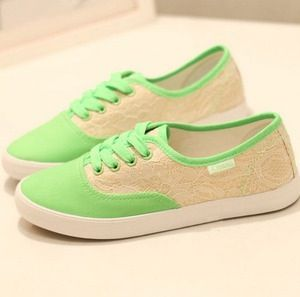 Lime with lace. Vans