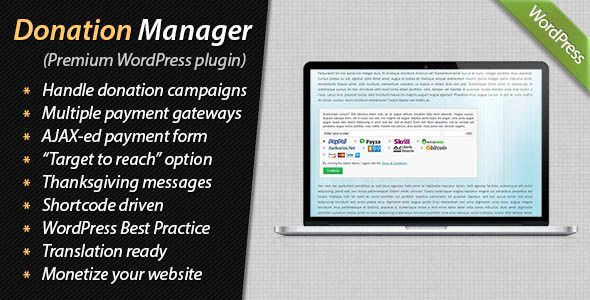 Donation Manager for WordPress #AuthorizeNet, #Donate, #Donation, #Donations, #Donor, #Egopay, #Halfdata, #Interkassa, #Monetize, #Money, #Moneybookers, #Pay, #Payment, #Paypal, #Payza, #Skrill http://goo.gl/gC4J6C
