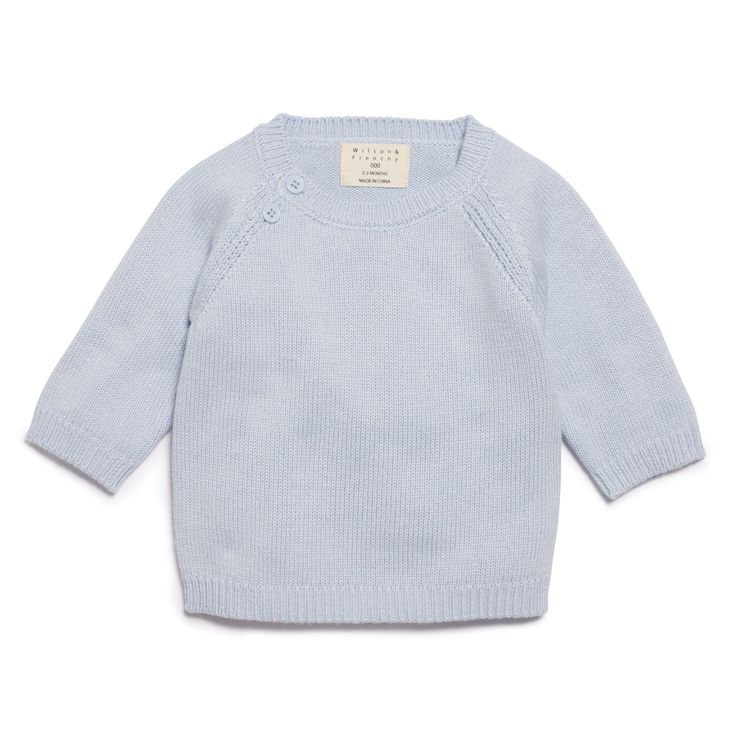 Blue knitted jumper with knitted elbow patches,made form a blend of cotton,bamboo and wool.   #wilsonandfrenchy #babystyle #knitwear #babyboy #newborn #baby #fashion #unisex #babylove #perfectbabies  #unisexbabyclothes  #newmum #babygift #babyshower #australiandesign #shopbaby #mumsunite #babylove #magicofchildhood #little