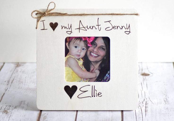 Christmas Gifts for Aunt, Personalized Picture Frame, Christmas Gift from Niece, Uncle Gift, Aunt Gifts, Gifts from Niece, Aunt and Niece by CustomWoodWonders on Etsy https://www.etsy.com/listing/254833833/christmas-gifts-for-aunt-personalized