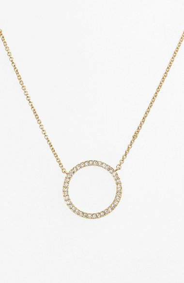 Nadri Circle Pendant Necklace available at #Nordstrom