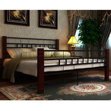 NEW Black Metal Bedframe Bed Frame Double 140 X 200 CM Slat Frame Included