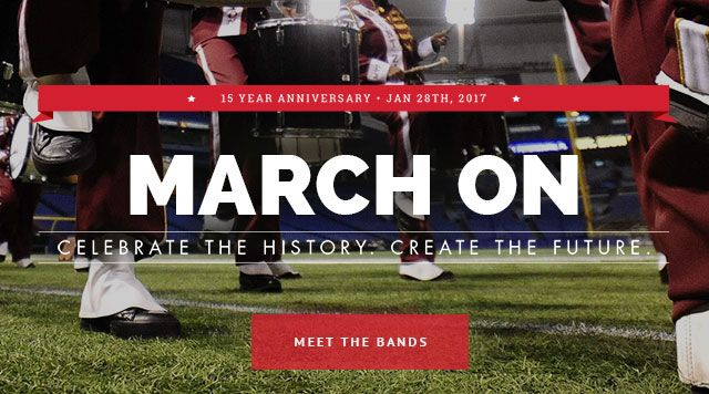 The official website of the 2017 Honda Battle of the Bands.  The Honda Battle of the Bands celebrates, supports and recognizes the excellence of Black College marching bands and the unique academic experience of Historically Black Colleges and Universities (HBCUs).   Experience the excitement, sounds and showmanship of marching bands.